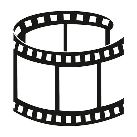Illustration pour tape film isolated icon vector illustration design - image libre de droit