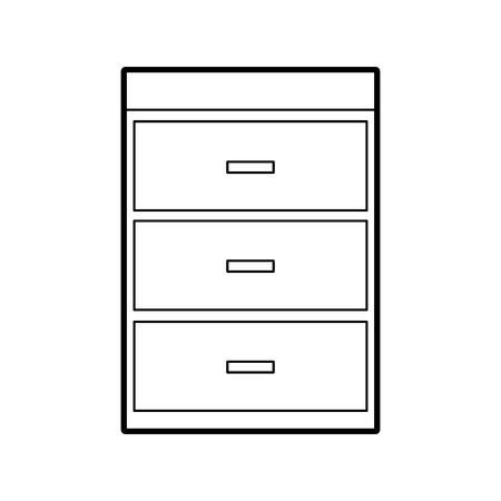 Illustration pour wooden chest of drawers furniture material modern style vector illustration - image libre de droit