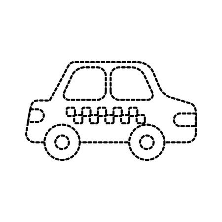 Illustration pour cab car transport public service city vehicle vector illustration - image libre de droit