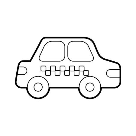 Ilustración de cab car transport public service city vehicle vector illustration - Imagen libre de derechos