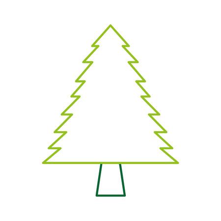 Illustration for pine tree forest natural flora image vector illustration - Royalty Free Image
