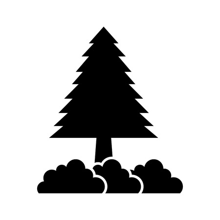 Illustration for pine tree forest natural flora image vector illustration - Royalty Free Image