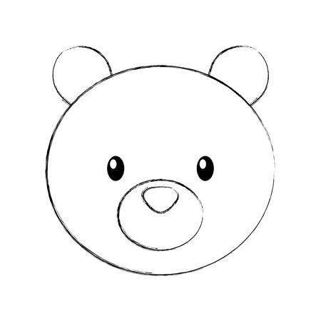 Ilustración de forest bear animal predator wild mammal vector illustration - Imagen libre de derechos