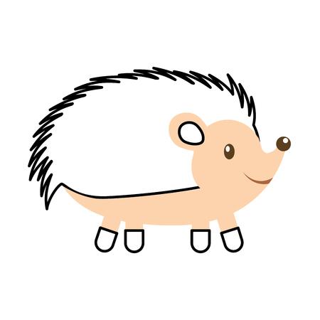 Illustration pour forest hedgehog animal wild fauna nature vector illustration - image libre de droit
