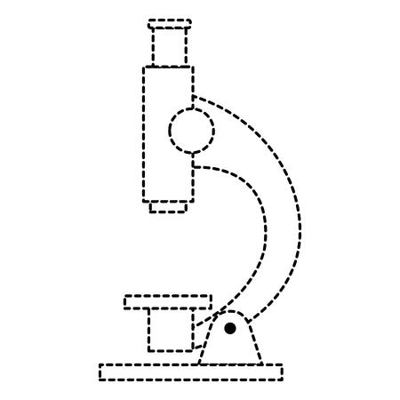 Ilustración de microscope laboratory isolated icon vector illustration design - Imagen libre de derechos