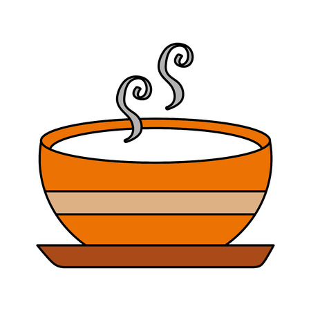 Illustration for delicious soup bowl food of season autumn vector illustration - Royalty Free Image