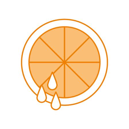 Illustration pour sliced orange fruit drop juice harvest vector illustration - image libre de droit