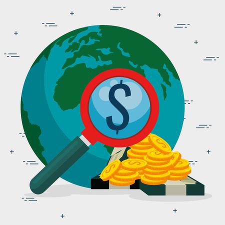 Illustration pour saving money concept vector illustration graphic design - image libre de droit