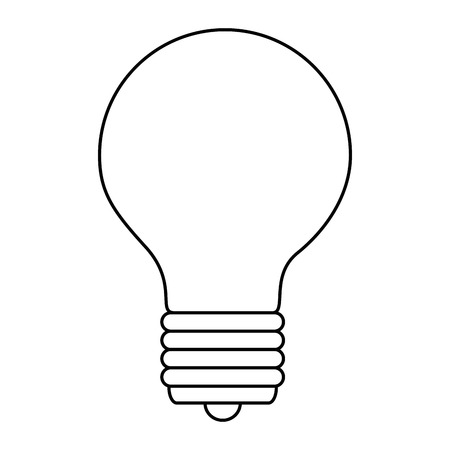 Ilustración de bulb light isolated icon vector illustration design - Imagen libre de derechos