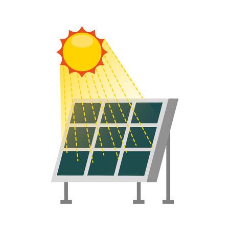 Ilustración de solar panel modern technologies alternative energy sources vector illustration - Imagen libre de derechos
