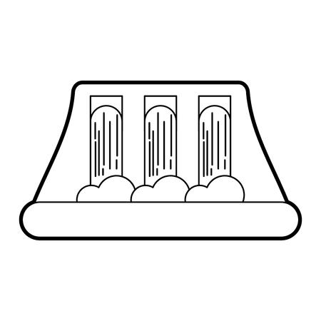 Ilustración de hydroelectricity power station alternative energy concept vector illustration - Imagen libre de derechos
