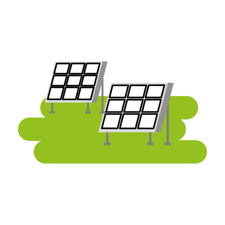 Illustration pour solar panel modern technologies alternative energy sources vector illustration - image libre de droit