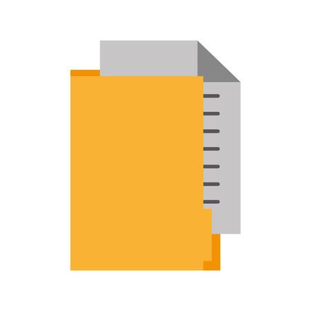 Illustration pour office folder file document paper information vector illustration - image libre de droit