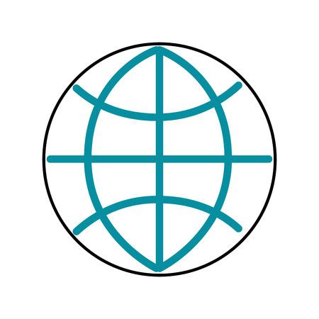 Illustration for global world connection business work network vector illustration - Royalty Free Image