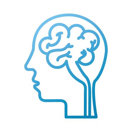 Illustration pour human head and brain icon mind concept vector illustration - image libre de droit