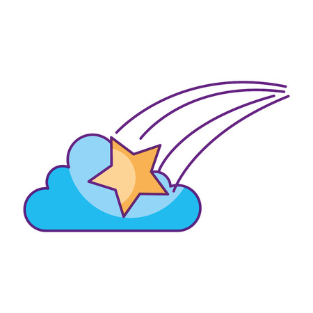 Illustration for astrology star cloud bright universe vector illustration - Royalty Free Image