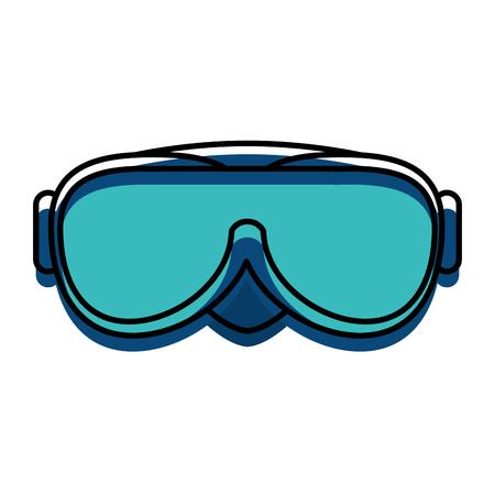 Ilustración de snorkel googles isolated icon vector illustration design - Imagen libre de derechos