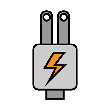 Ilustración de Plug energy isolated icon illustration design - Imagen libre de derechos