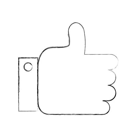 Illustration pour business hand man like approval vector illustration - image libre de droit