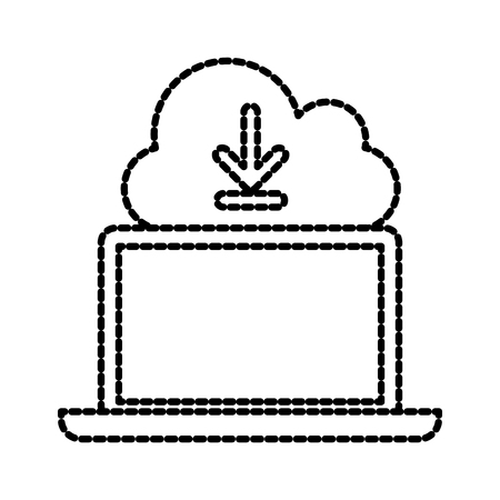 Illustration pour cloud computing download technology storage data vector illustration - image libre de droit