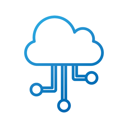 Ilustración de cloud technology computing communication connection digital networking vector illustration - Imagen libre de derechos