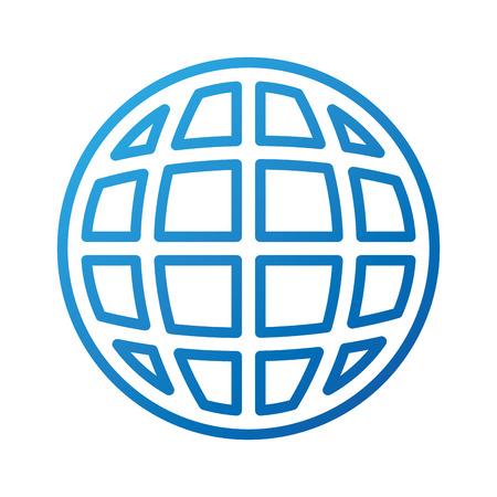 Illustration pour global world connection internet networking vector illustration - image libre de droit
