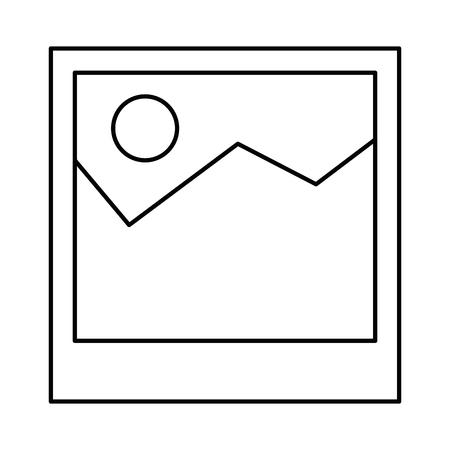 Illustration pour picture file isolated icon vector illustration design - image libre de droit