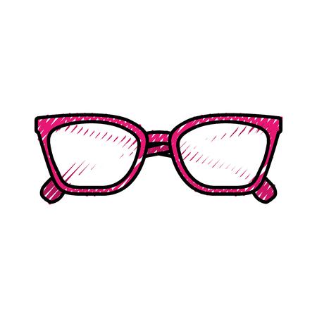 Illustration pour glasses accessory fashion object element vector illustration - image libre de droit