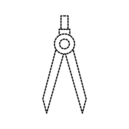 Illustration for A drawing school compass tool study designer vector illustration - Royalty Free Image