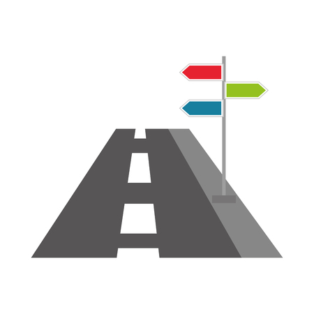 Illustration for navigation concept road with sign traffic vector illustration - Royalty Free Image