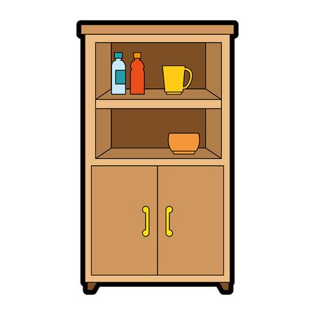 Illustration pour kitchen cabinet isolated icon vector illustration design - image libre de droit