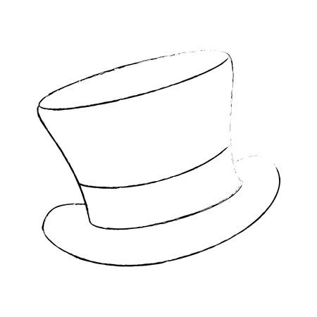 Illustration for cilinder hat elegant icon vector illustration design - Royalty Free Image
