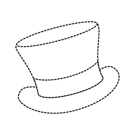 Ilustración de cilinder hat elegant icon vector illustration design - Imagen libre de derechos