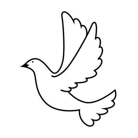 Ilustración de dove of peace flying vector illustration design - Imagen libre de derechos