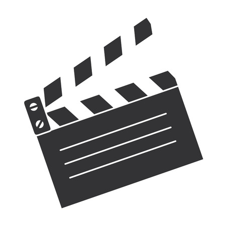 Illustration pour clapperboard cinema isolated icon vector illustration design - image libre de droit