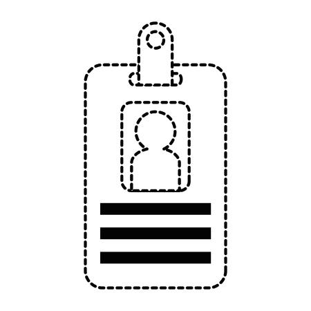 Ilustración de worker badge isolated icon vector illustration design - Imagen libre de derechos