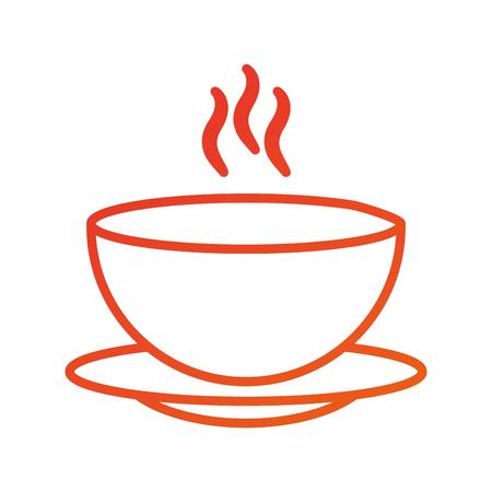 Ilustración de menu restaurant soup bowl dish hot dinner vector illustration - Imagen libre de derechos