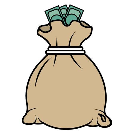 Ilustración de money bag isolated icon vector illustration design - Imagen libre de derechos