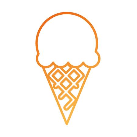 Ilustración de ice cream sweet cold fresh tasty vector illustration - Imagen libre de derechos