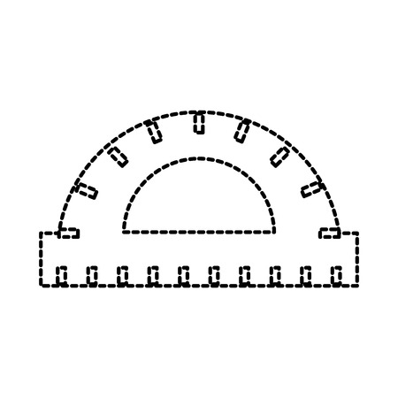 Illustrazione per protractor ruler scale measure tool icon vector illustration - Immagini Royalty Free