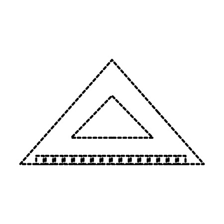 Illustrazione per triangle ruler scale measure tool icon vector illustration - Immagini Royalty Free