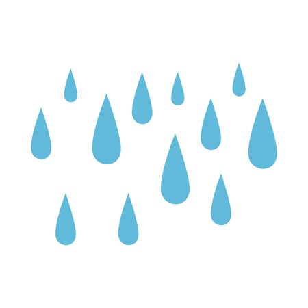 Illustration pour rain drops isolated icon vector illustration design - image libre de droit