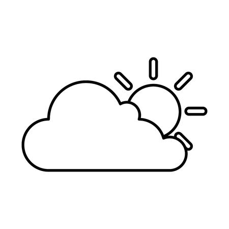 Ilustración de cloud weather with sun vector illustration design - Imagen libre de derechos