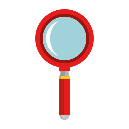 Illustration pour magnifying glass isolated icon vector illustration design - image libre de droit