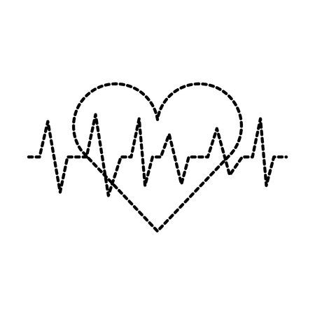Ilustración de medical heart beat cardiology diagnosis vector illustration - Imagen libre de derechos