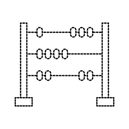 Ilustración de toy wood abacus with base and spheres vector illustration - Imagen libre de derechos