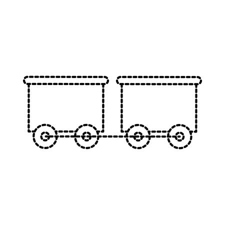 Illustration pour toy train with the wagon transport vector illustration - image libre de droit