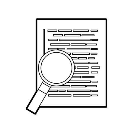 Ilustración de document web page magnifier developer language vector illustration - Imagen libre de derechos