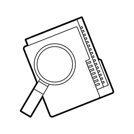 Illustration pour folder file and magnifier technology data storage vector illustration - image libre de droit