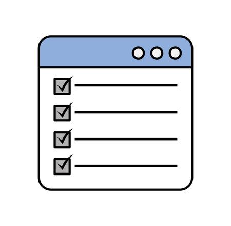 Illustration pour web page check mark report list flat design graphic element vector illustration - image libre de droit